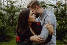 Garfield Park Conservatory Engagement Session by Megan Saul Photography