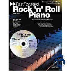 Aprenda piano de rock \\\'n roll com este método, acompanhado de CD.