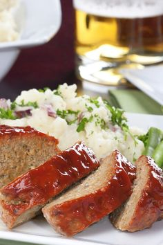 Barbecue Meatloaf – Weight Watchers (6 Points)