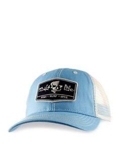 Salt Life Boys  Trifecta Trucker Mesh Hat Boys 8-20 - Sky Blue - 62393e112e80