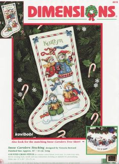 like the two snowmen at top Cross Stitch Christmas Stockings, Cross Stitch Stocking, Xmas Stockings, Christmas Cross, Christmas Skirt, Cross Stitching, Cross Stitch Embroidery, Cross Stitch Patterns, Christmas Stocking Holders