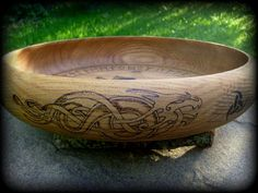 Odin's Rune Casting Bowl  Norse Viking Runes by WytchenWood