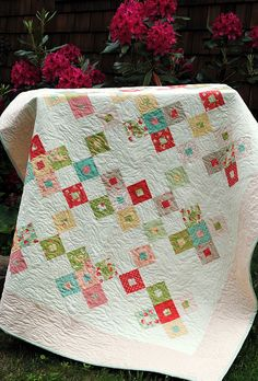 Better Together quilt pattern by Sweet Jane's, Strawberry Fields fabric by Fig Tree | Flickr - Photo Sharing!