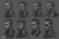 ArtStation - Lewis Wright ( Main Character for Brothers in Arms 3), Catalin Lartist
