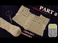 صدر كروشيه بغرزة سهلة للمبتدئات مع شرح اشتغاله لاي مقاس / الجزء PART 2 C... Crochet Dress Girl, Crochet Girls, Crochet Baby, Moda Crochet, Girls Dresses, Couture, Bebe, Dresses Of Girls, Crochet For Baby