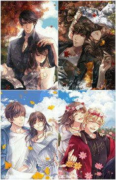 Anime Couples Drawings, Anime Couples Manga, Cute Anime Couples, Anime Manga, Anime Art, Handsome Anime Guys, Cute Anime Guys, Fanarts Anime, Anime Characters