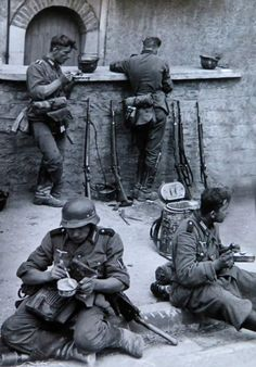 German troops taking a break from the action...