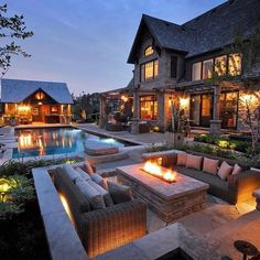 """Luxury Homes Interior Dream Houses Exterior Most Expensive Mansions Plans Modern 👉 Get Your FREE Guide """"The Best Ways To Make Money Online"""" Backyard Buildings, Dream Mansion, Luxury Homes Dream Houses, Luxury Cabin, Luxury Living, Modern Backyard, Backyard Bbq, Infinity Pool Backyard, Cozy Backyard"""