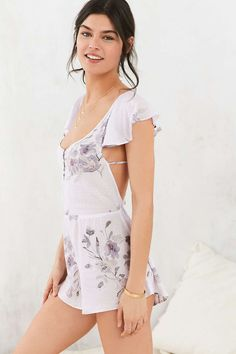 Out From Under Clementine Ruffle Romper - Urban Outfitters