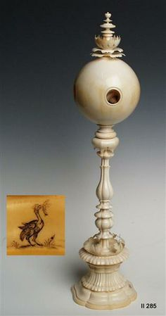 Ball on a high shaft (height 39.5 cm), by Georg Friedel, circa 1611-1619 Courtesy of Staatliche Kunstsammlungen Dresden
