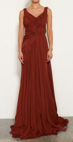 Gorgeous dress for autumn! #Rust. By Bibhu Mohapatra.