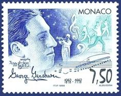 George Gershwin - the American composer - on a Monaco postage stamp.