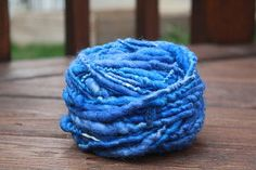 Variegated Sky Blue Overspun Handspun Wool Yarn $26 Kimberly Handspun Handwoven SHOP www.nywhitestonefarm.com #handmade #handspun  #handdyed #yarn #wool #knit #crochet #farm #gift #dyi #blue #overspun
