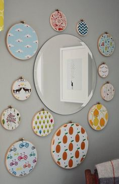 Fabric Embroidery Hoop Wall Art Inspiration | Apartment Therapy