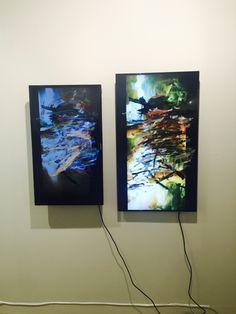 Ken Okishi at Reena Spaulings Fine Art booth in Art Basel