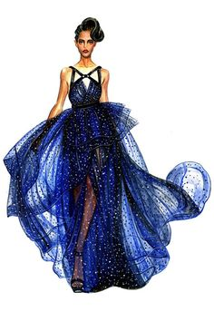 neat design look at that BLUE flowy dress