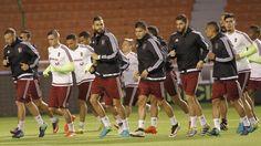 La selección de Venezuela entrenó en Casa Blanca en medio de lluvia y frío