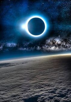 Solar Eclipse from above the clouds!