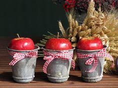 Apfeldeko Apple Season, Diy Candles, Fall Candles, Home Decor Inspiration, Autumn Inspiration, Fall Decor, Seasonal Decor, Wooden Crafts, Wooden Decor
