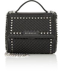 Givenchy Women's Pandora Box Mini Crossbody Bag (3 645 AUD) ❤ liked on Polyvore featuring bags, handbags, shoulder bags, givenchy, black, mini crossbody handbags, mini shoulder bag, studded crossbody, studded purse and mini cross body purse