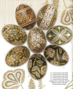 Taras Horodetsky pysanky.  A brilliant Ukrainian artist and the book of his work is amazing.