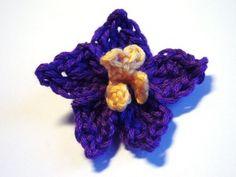 African Violet Flower - Free Crochet Pattern