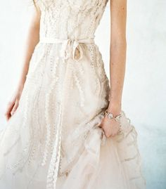 Textured Detail on Gown   Everelle: by Jose Villa