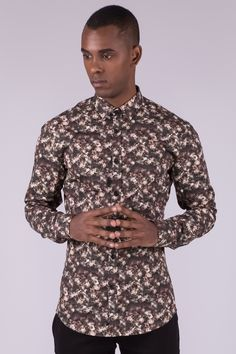 3D Floral Shirt In Slim Fit €74,90 #aristotelibitsiani #shirt