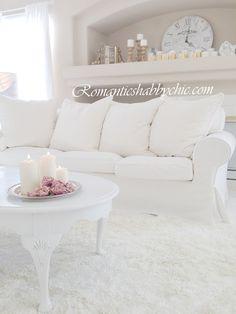 My Shabby Chic Home ~ Romantik Evim ~Romantik Ev: Romantik EV: Romantic shabby chic : White and shabby - Beyaz ev dekorasyonu- shabby chic-romantik-pastel hersey-