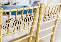 Wedding Chair Signs Nautical - Wooden Captain & First Mate Wedding Sign For…