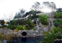 backyard water slide by Natural Structures