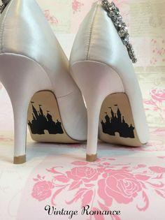 Disney wedding day shoe sole vinyl decals / stickers Disney Castle