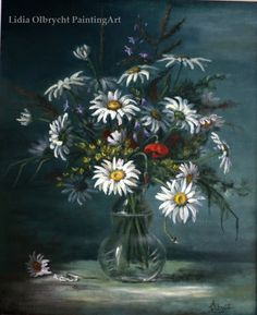 Flowers Daisys by Lidia Olbrycht