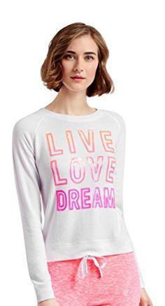 cef2474a4ad41 Aeropostale Women s Lld Sequined Raglan Sweatshirt L Bleach Aeropostale  http   www.amazon
