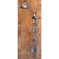 PULSE Showerspas Kauai III 3 Spray Hand Shower And Shower Head Combo Kit In  Chrome (Grey) Finish