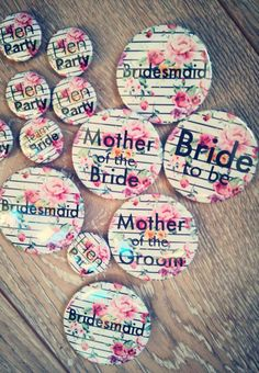 Our bestselling festival inspired hen party badges are the perfect hen do accessory for a boho or festival themed hens celebration. Henfest or henchella!