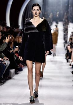 Dior debut: The newly-appointed Victoria's Secret model paraded her lithe limbs in a thigh...
