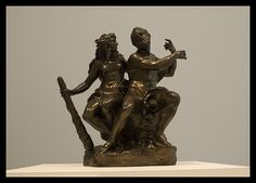 Hercules and Omphale  Bronze  group