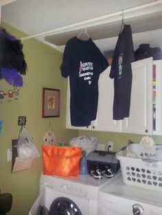 Great place to hang clothes in my laundry room Our House Inside