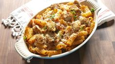 Chicken Parm Rigatoni Bake