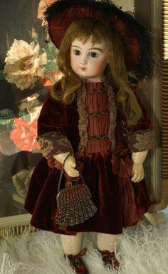 E8J Bebe Crimson Velvet Dress and Hat
