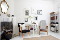 Norwegian House, Norwegian Style, Nordic Interior, Best Interior Design, Striped Chair, Create Space, Scandinavian Home, Oslo, House Tours