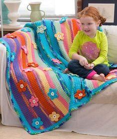 Crochet Afghans, Crochet Motifs, Afghan Crochet Patterns, Baby Blanket Crochet, Crochet Yarn, Crochet Flowers, Knitting Patterns, Crochet Blankets, Baby Blankets