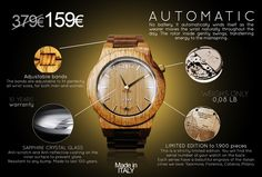 World's First Limited Edtion Wooden Luxury Watches: GUFO™  https://www.kickstarter.com/projects/giuseppemarino/innovating-wooden-luxury-watches-made-in-italy-aut?ref=project_link
