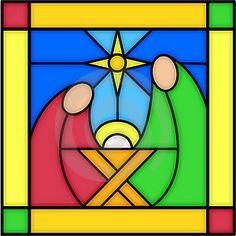 stain glass- nativity