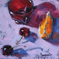 January Cherries by Cathleen Rehfeld. Love her blog. She does a painting every day and posts it!
