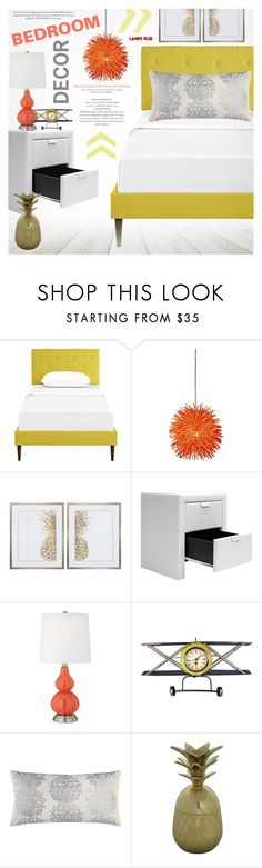 """Bedroom"" by pokadoll ❤ liked on Polyvore featuring interior, interiors, interior design, home, home decor, interior decorating and bedroom"