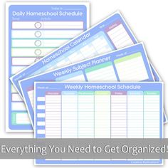 Complete Homeschooler's Organizational Pack from Creative Motivations! Very awesome, everything you need to get your homeschooling organized in easy dry-erase charts! Masha'Allah.
