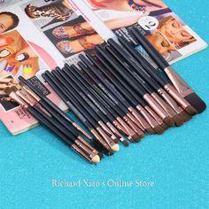 Hot Sale! Professional 20Pcs Makeup Brush Sets Tools Cosmetic Brush Foundation Eyeshadow Eyeliner Lip Brush Make Up Tool 2 Color #Affiliate