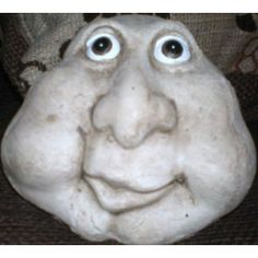 Muddled Stone Face man Garden Latex Mould for making this Muddled Stone Face man Measures 7 inches high x 7 inches wide Sculpture Head, Soft Sculpture, Paris Crafts, Face Mold, Clay Faces, Concrete Crafts, Flower Phone Wallpaper, Pet Rocks, Ceramics Projects